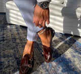Buy Now Fashion Office Wear And Casual Wear Patent Monk Shoes Men- SunglassesTrendz