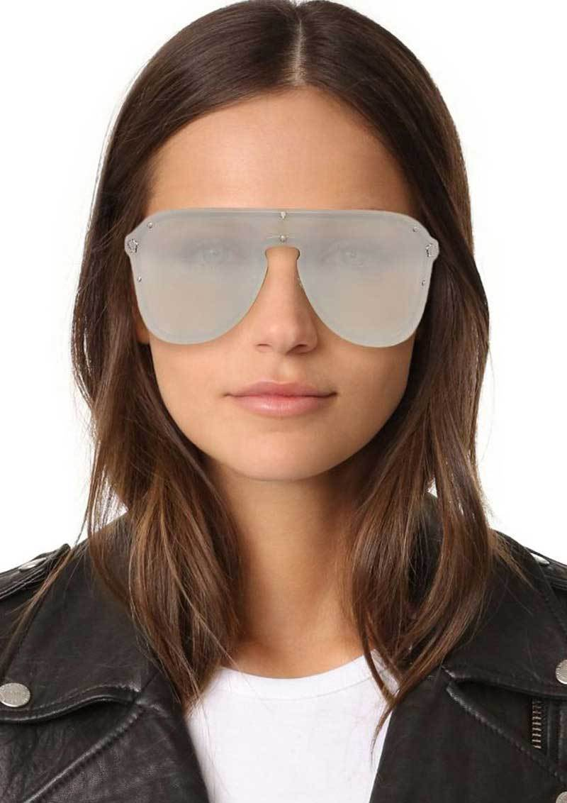 Trendy Rim Less Mirror Sunglasses For Women-SunglassesTrendz