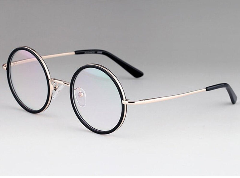 Round Reading Glasses Titanium Spectacles - BRANDEDBABA