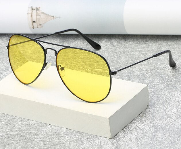 New Stylish Yellow Candy Aviator Sunglasses For Men And Women-SunglassesTrendz