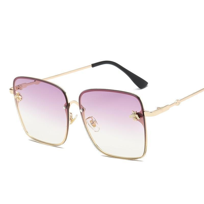 Most Stylish Square Bee Gradient Sunglasses For Women-SunglassesTrendz
