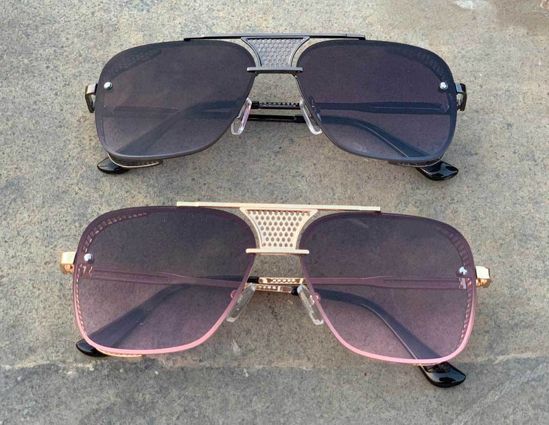 Classic Square Over Sized Gradient Sunglasses For Men And Women-SunglassesTrendz