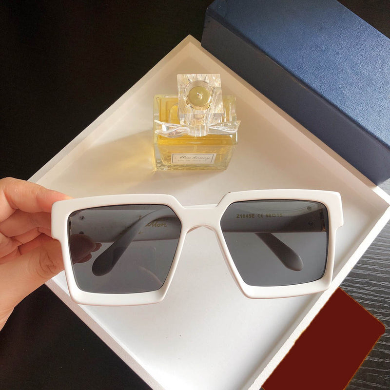 Latest Stylish Celebrity Square White Sunglasses For Man-SunglassesTrendz
