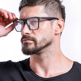 Oversized Square Frame Eyeglasses For Men - SunglassesTrendz