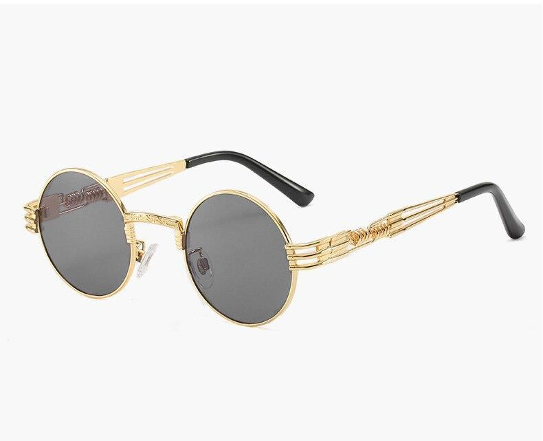 Fashionable Round Vintage Candy Sunglasses For Men And Women