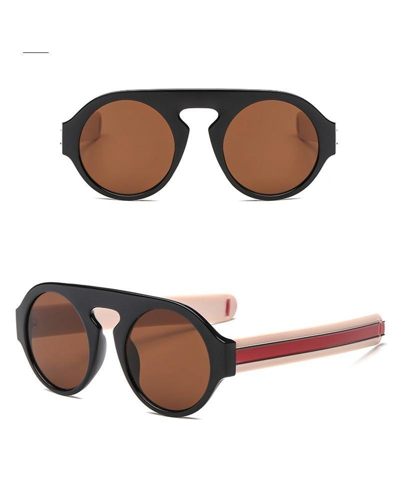 Celebrity Fashion Round Oversize Sunglasses For Men And Women