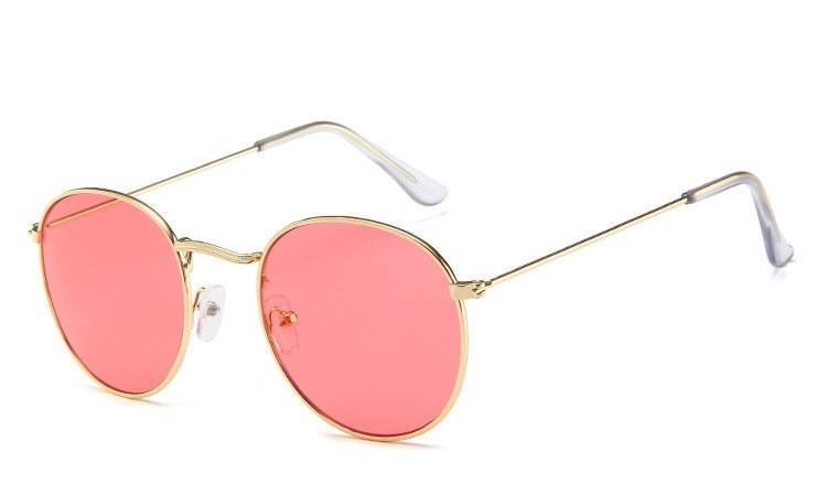 Celebrity Round Mirror Sunglasses For Men And Women-SunglassesTrendz