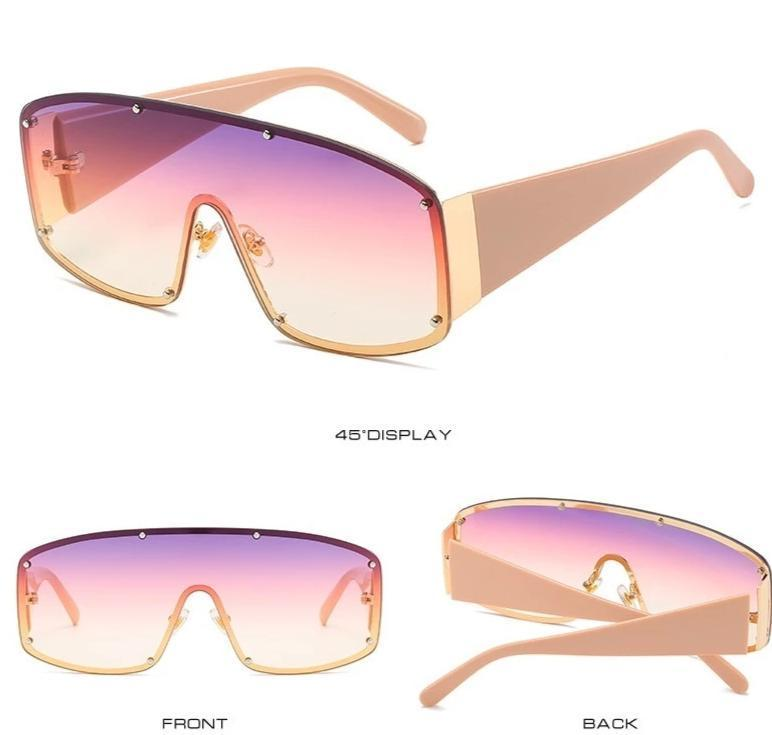 New Stylish Square Gradient Sunglasses For Men And Women-SunglassesTrendz