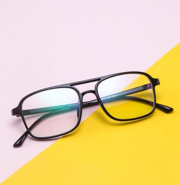 Stylish Retro Square Frame Eyewear Spectacle For Men And Women - SunglassesTrendz