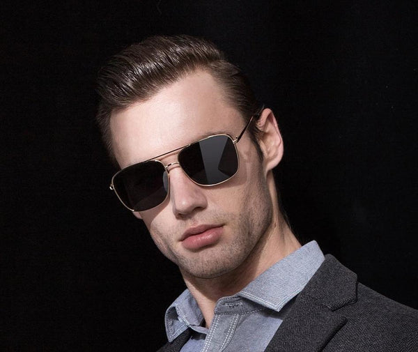 Stylish Celebrity Square Metal Sunglasses For Men And Women -SunglassesTrendz