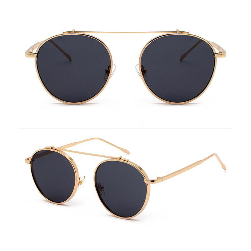 Luxury Metal Round Sunglasses Retro For Men And Women