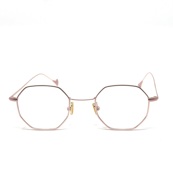 Octagonal Rose Gold Metal Frame Eyewear