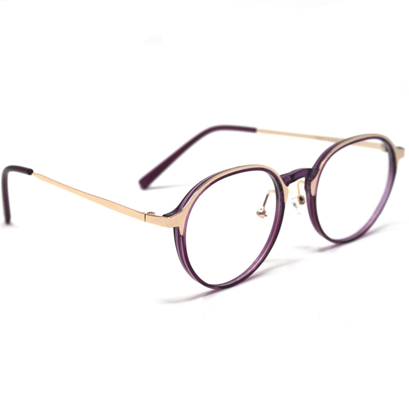 Crystal Purple Round frame eyewear for men and women