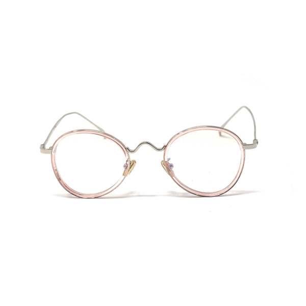 Crystal Peach Round Eyewear