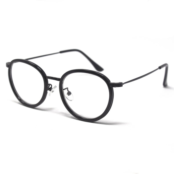 New Stylish Shiny Black Round Eyewear