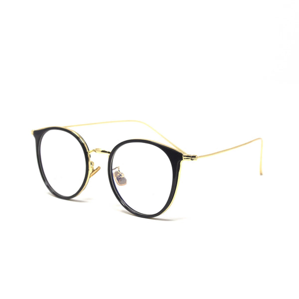 Oval black Golden frames eyewear