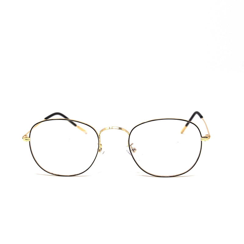 Oval Golden Black Frame Eyewear