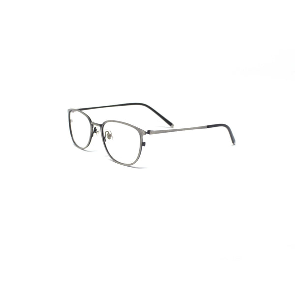 Oval Square Grey Metal Optical Frame Eyewear