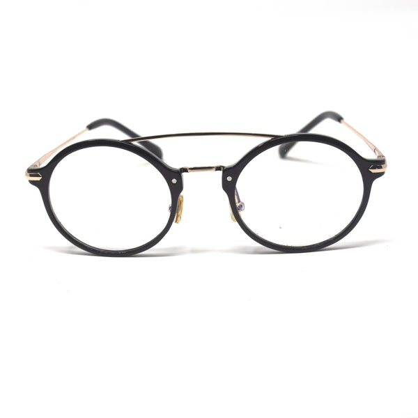Oval Shape Bridge Black Eyewear