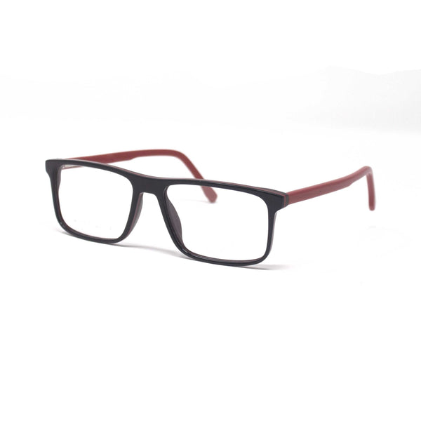 Fashionable Retro Square Black Red Frame Eyewear