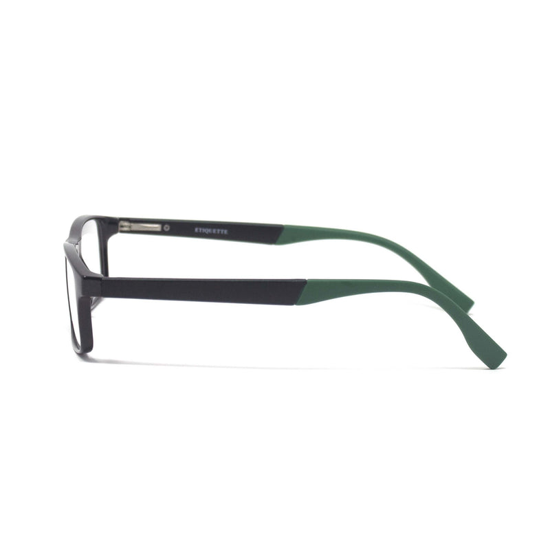 Stylish Retro Square Black Green Optical Eyewear