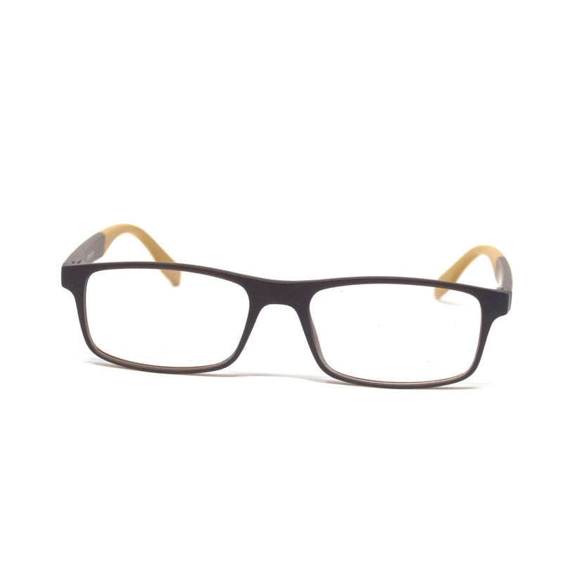 Stylish Retro Square Black Yellow Optical Eyewear