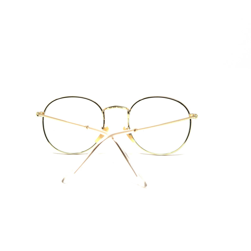 Fashion Round Antiblue Golden Frame Eyewear