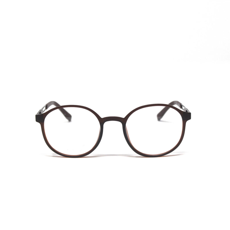 Round Coffee Color frames eyewear