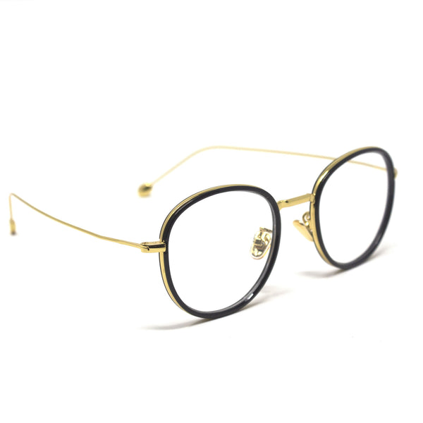 Fashion Round Gold Black Eyewear