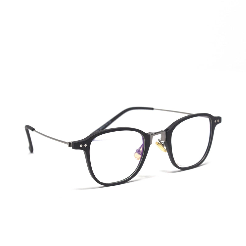Stylish Retro Square Black Optical Frame