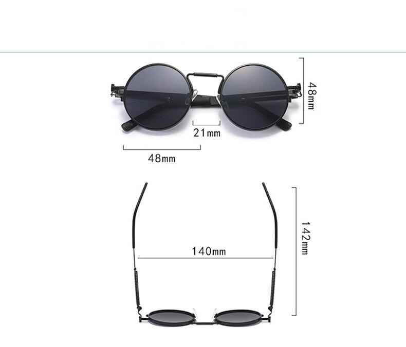 Stylish Round Metal Retro Design Sunglasses For Men And Women