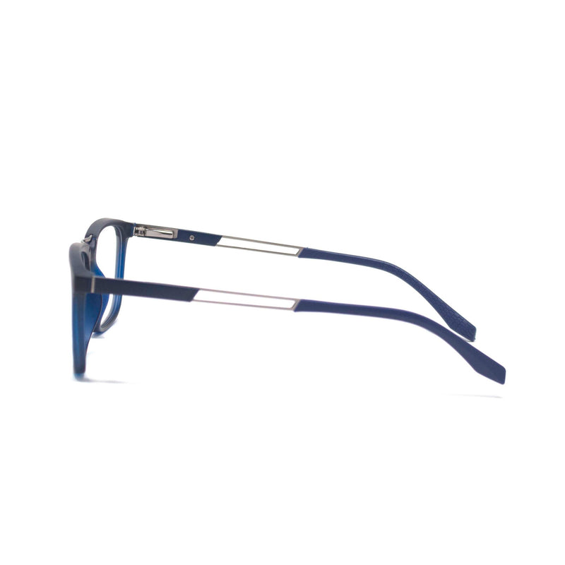 Stylish Retro Square Blue Optical Frame