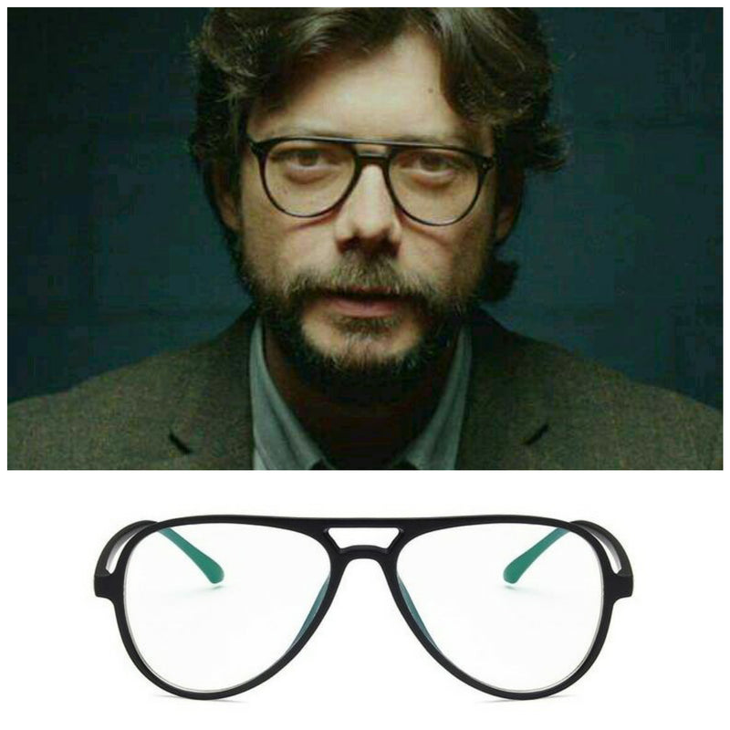 New Fashionable la casa de papel professor Frame Eyeglasses For Men