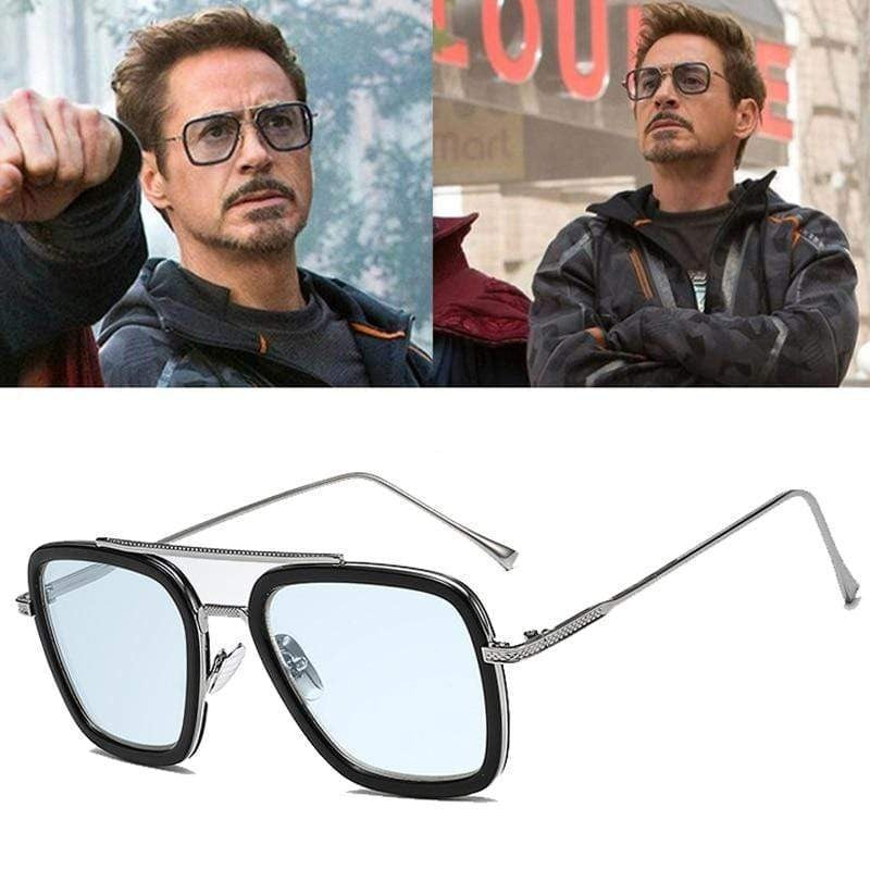 Tony Stark Square Sunglasses -FunkyTradition Premium FunkyTradition