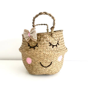 Sweet Cheeks Bow Basket - Small