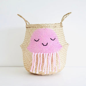 Pink Jellyfish Basket - Large