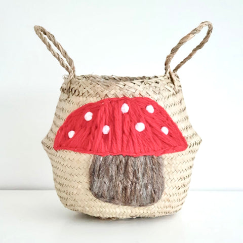 Toadstool basket - small