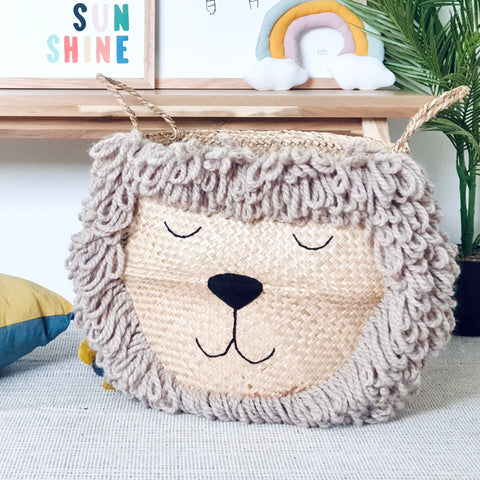 Natural Lion Basket - Extra Large
