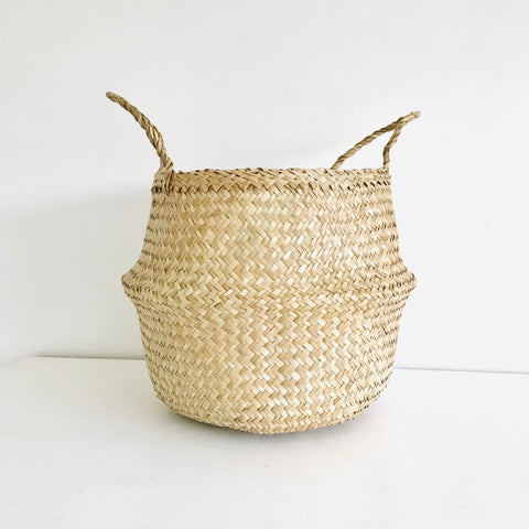 Plain Seagrass Basket - Large