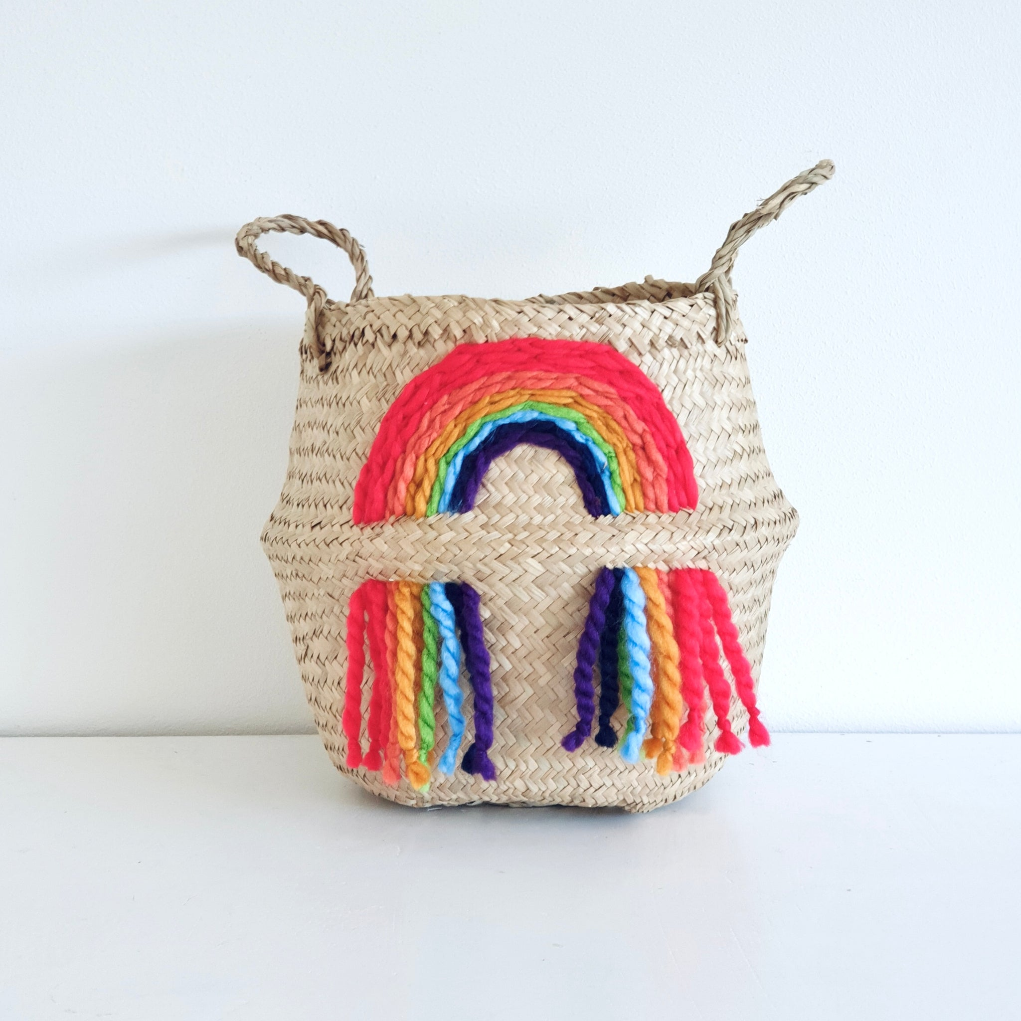 Vivid rainbow Basket - Small