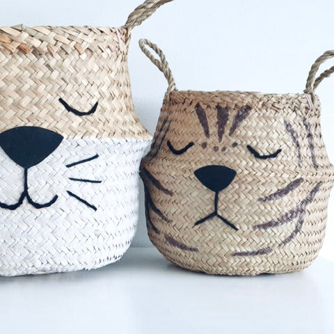 Natural Tiger Basket - Small