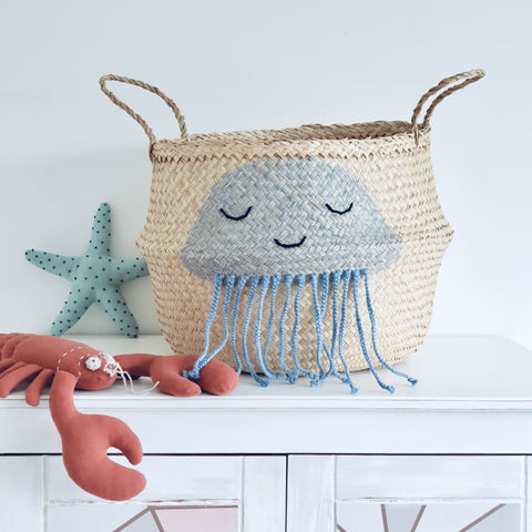Blue Jellyfish Basket - Extra Large