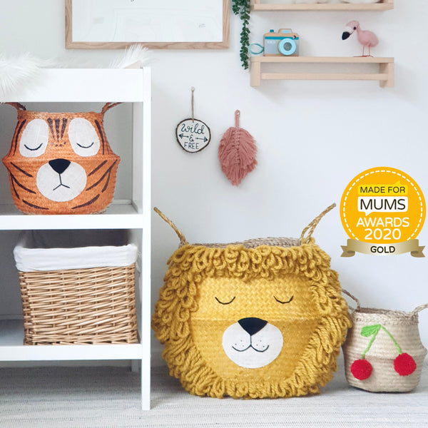 Yellow Lion Basket - Extra Large