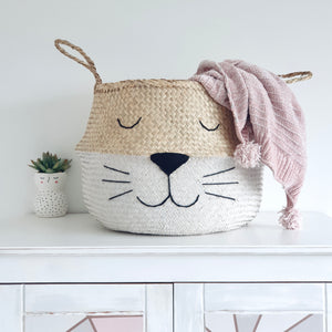 White Bottom Whiskers Basket - Extra Large