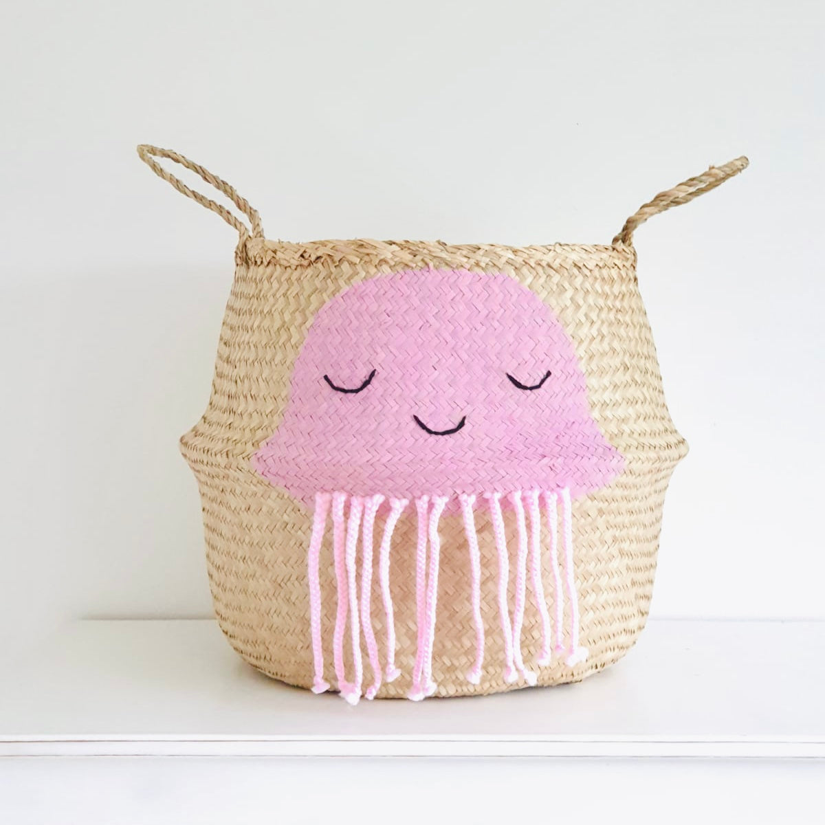 Pink Jellyfish Basket - Extra Large
