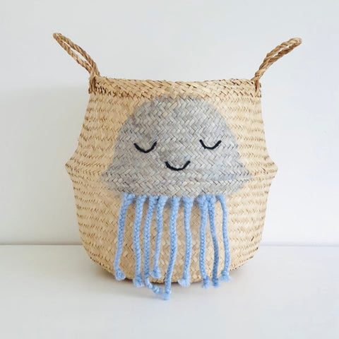 Blue Jellyfish Basket - Large