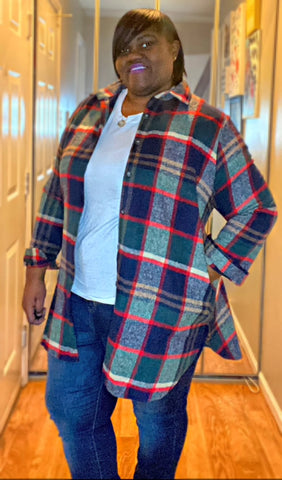 Plaid about you shirt/dress