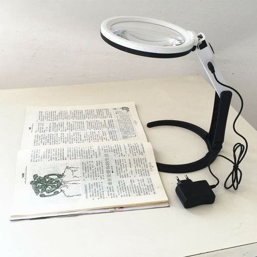 Magnifying Desk Lamp with LED Light