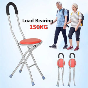 Foldable 2-in-1 Chair & Walking Cane