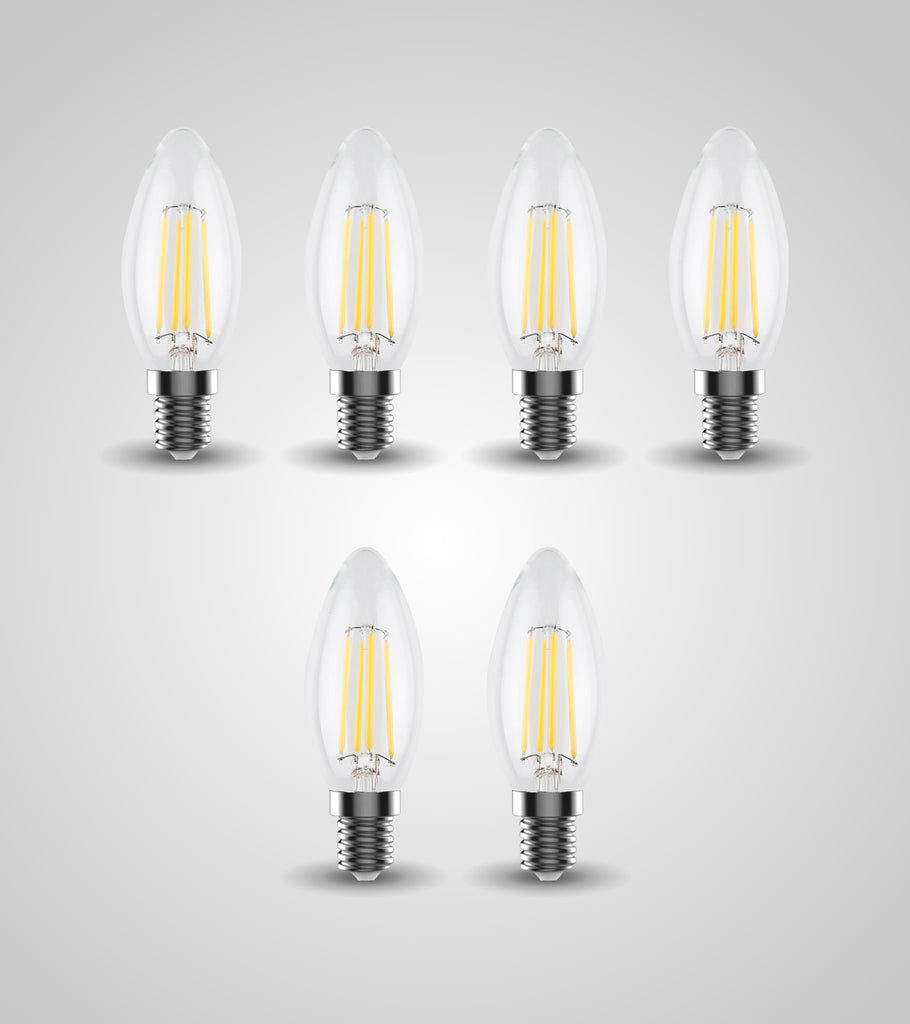 E-14 Candle Bulb (4W)(Set of 6)